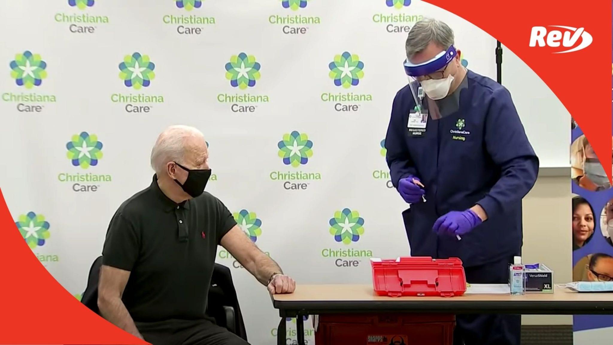 Joe Biden Gets Second COVID-19 Vaccine Dose