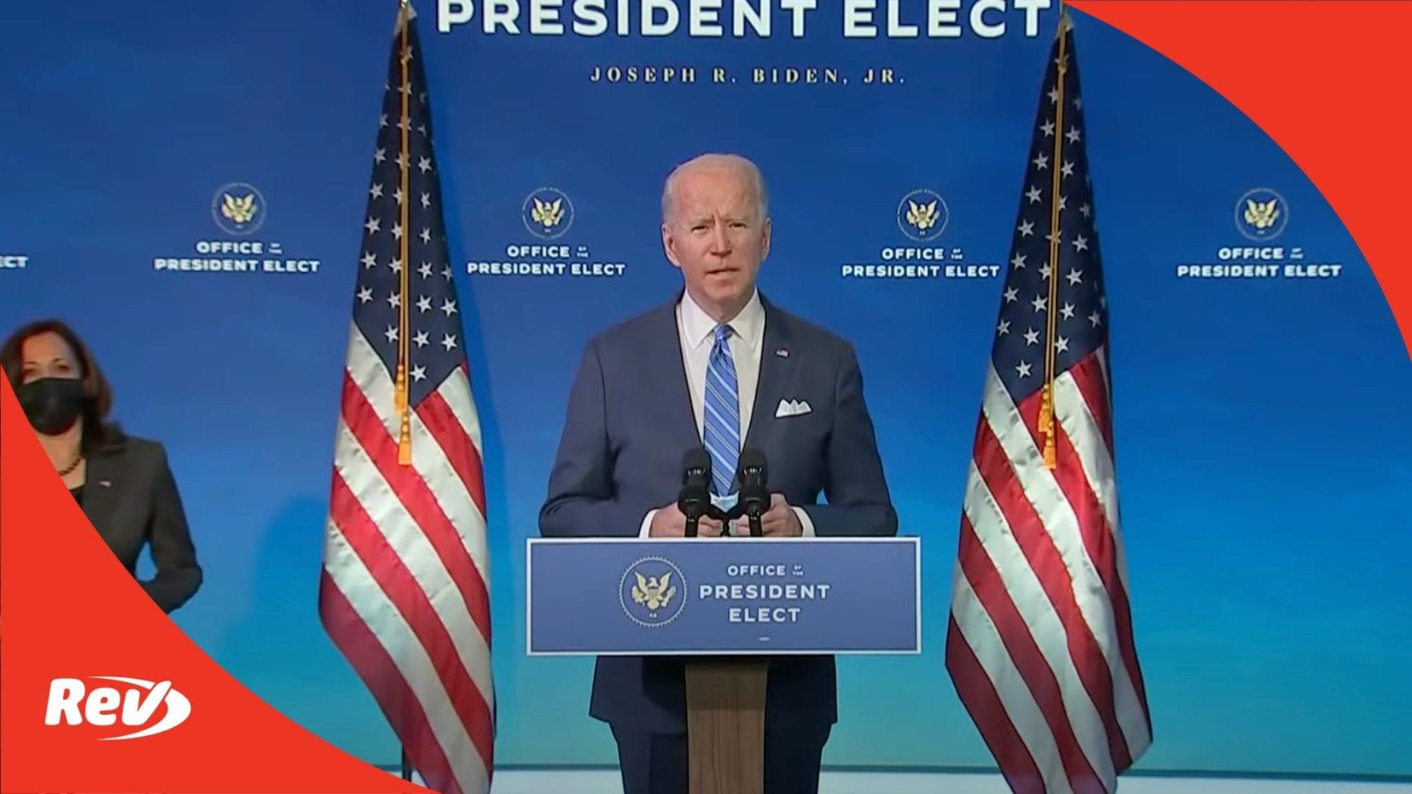 Joe Biden Speech COVID 19 Relief Package