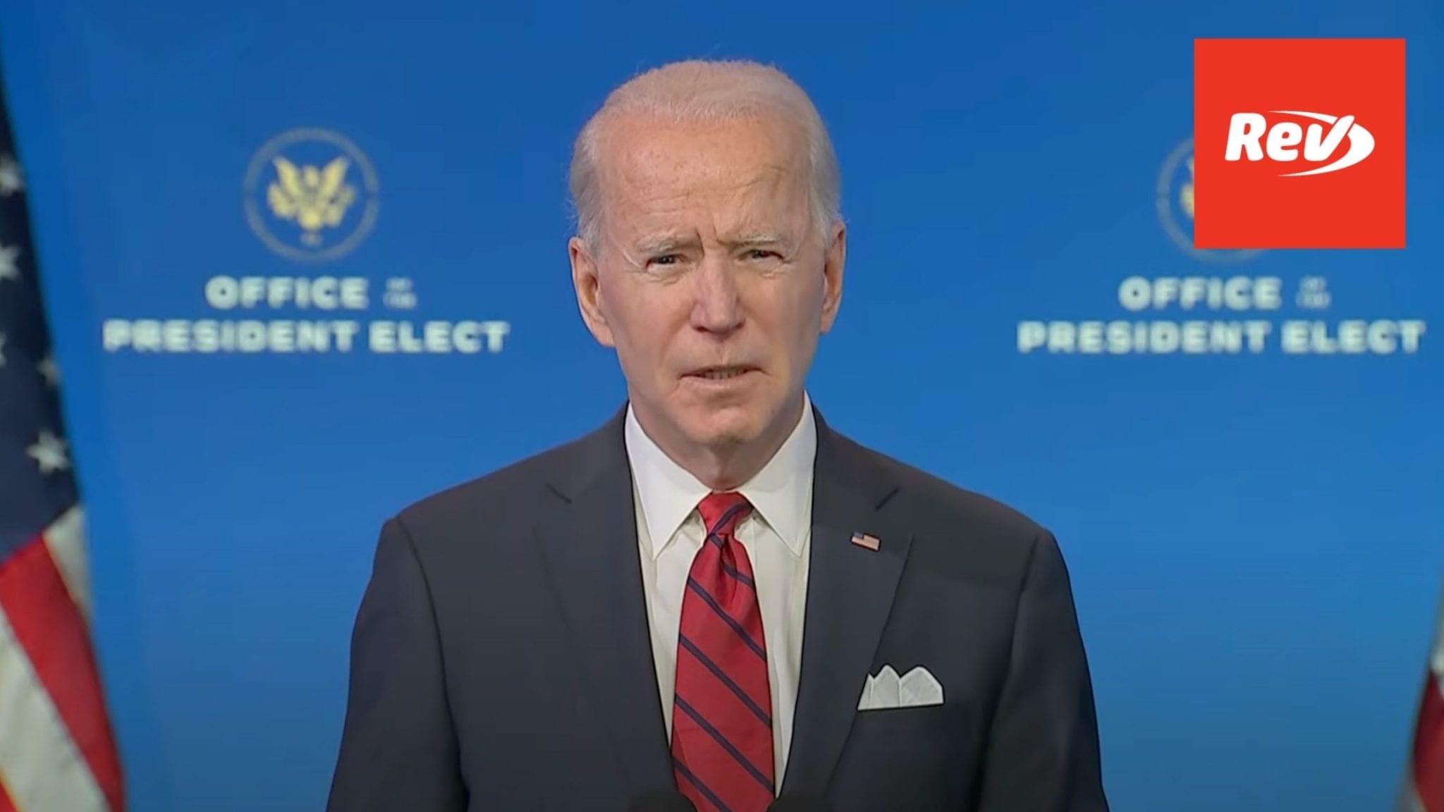 Joe Biden Speech COVID vaccination plan