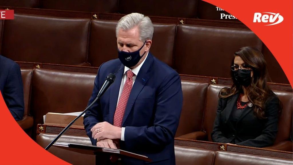Kevin McCarthy 2nd Impeachment Speech Transcript