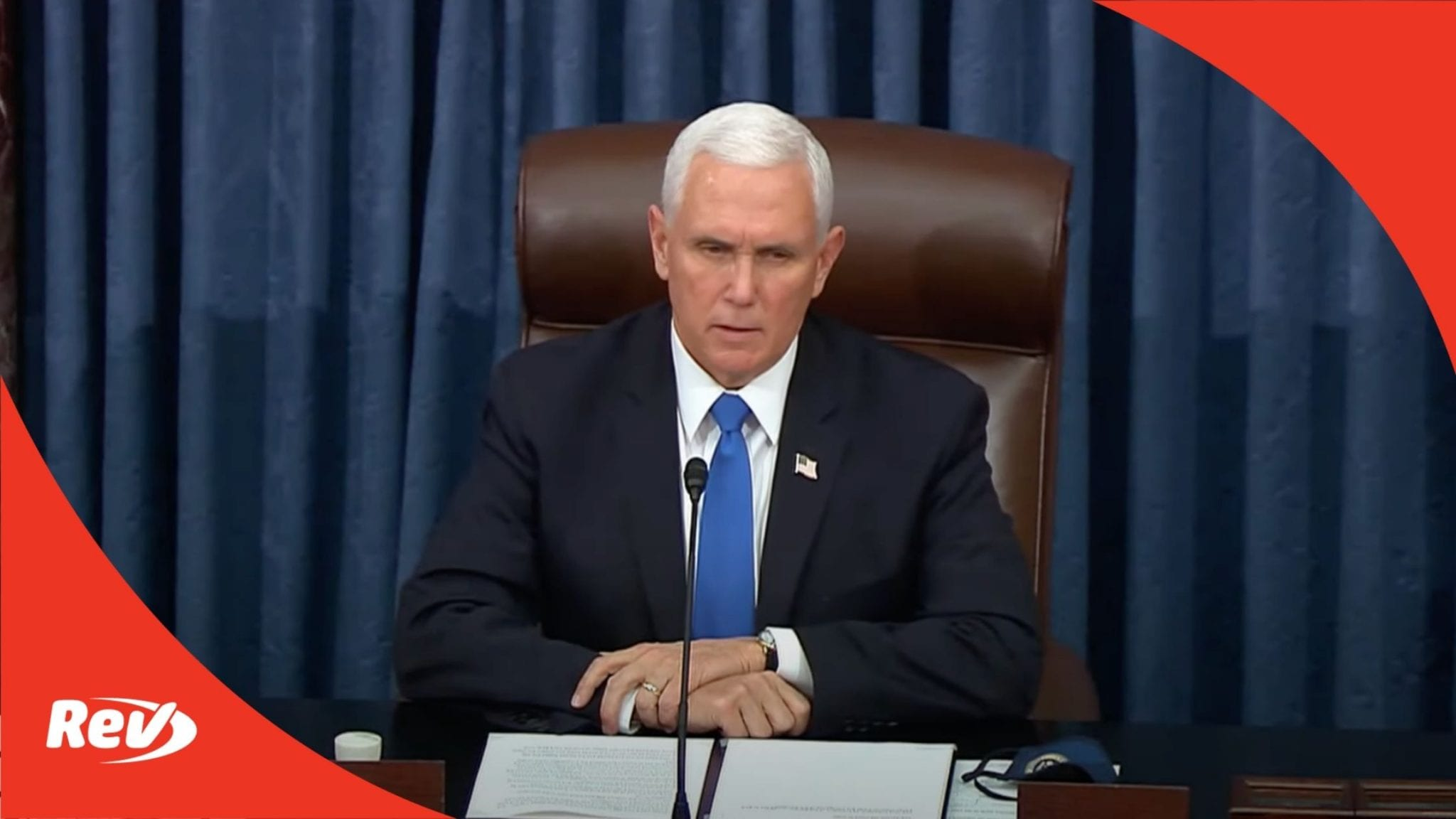 Mike Pence Speech After Capitol Building Riots