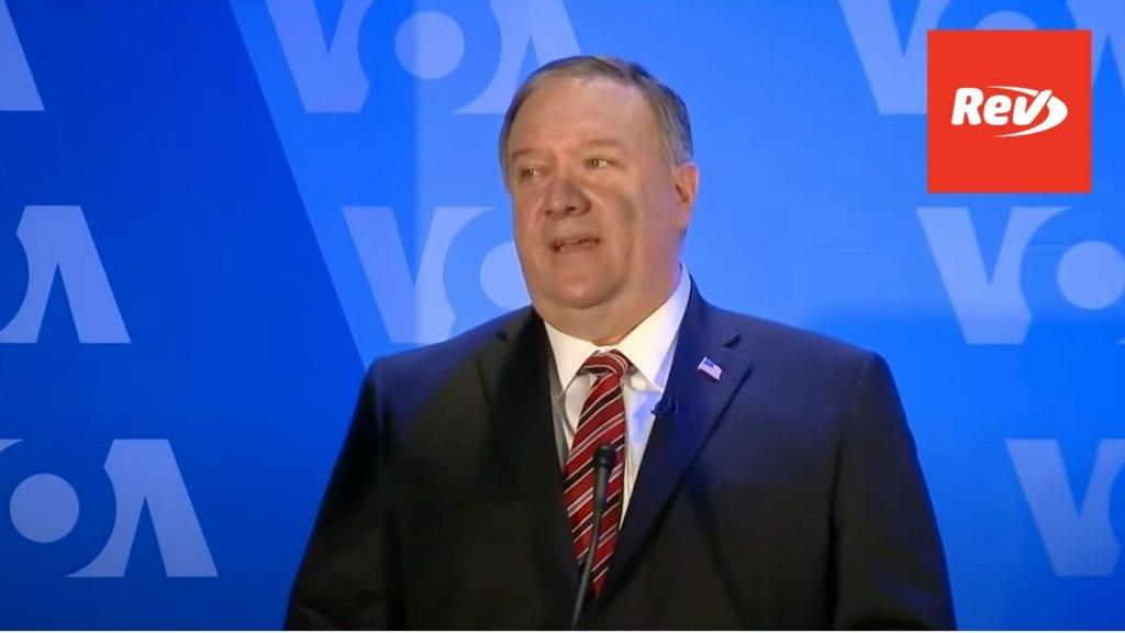 Mike Pompeo Voice of America Speech Transcript