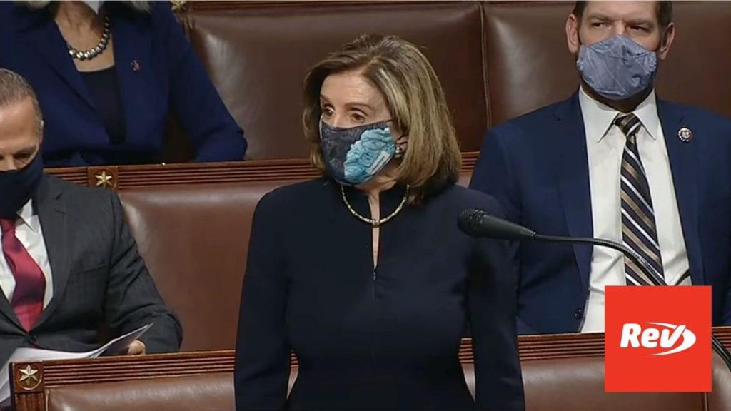 Nancy Pelosi 2nd Impachment Speech Transcript