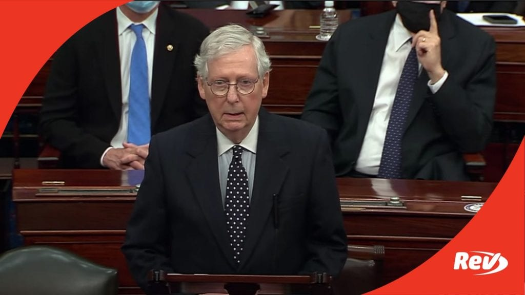 Mitch McConnell Senate Speech Transcript January 6: Rejects Efforts to Overturn Presidential Election Results