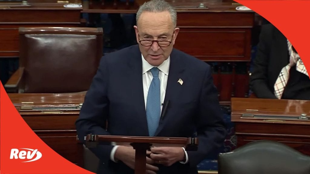 Chuck Schumer Senate Speech on Election Certification Transcript January 6