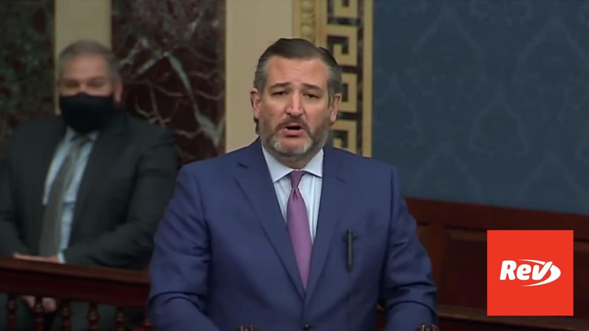 Ted Cruz Senate Speech on Election Certification Transcript January 6