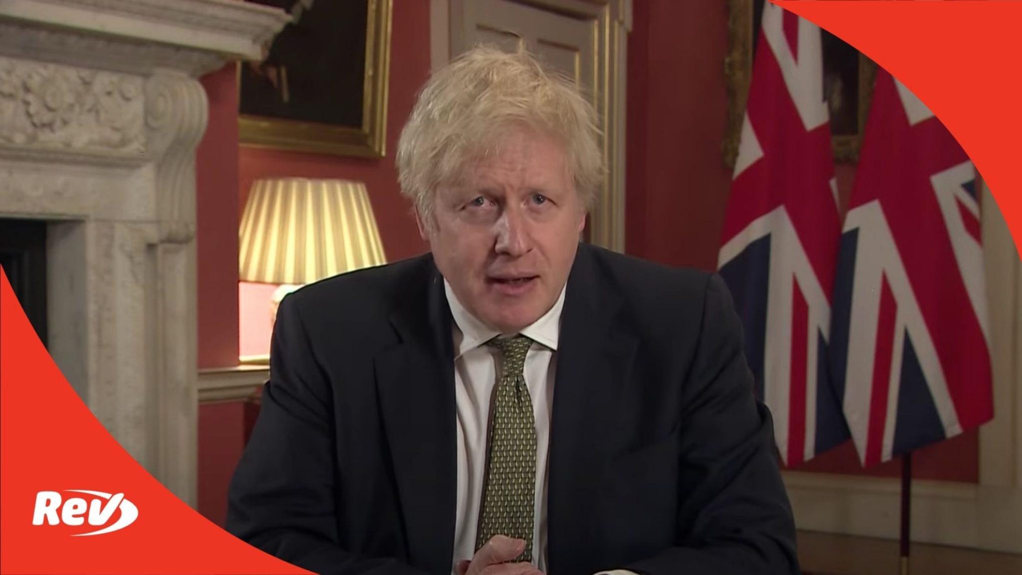 Boris Johnson Announces New COVID Lockdown Press Conference Transcript January 4
