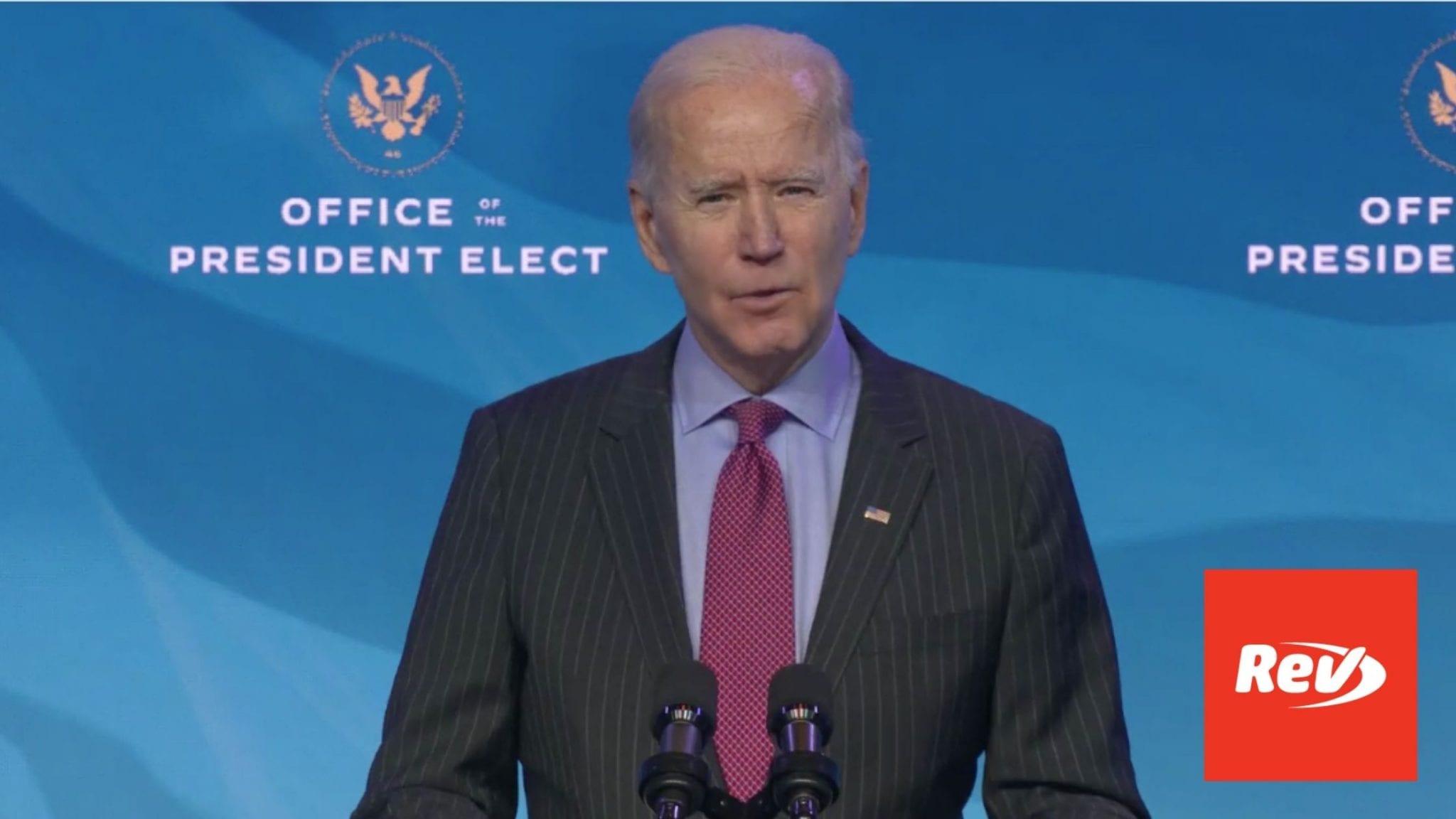 Joe Biden Introduces Economics & Labor Nominees Transcript