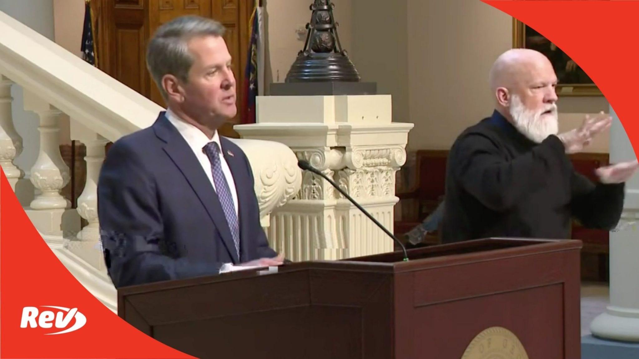 Governor Brian Kemp Georgia COVID-19 Briefing Transcript January 8