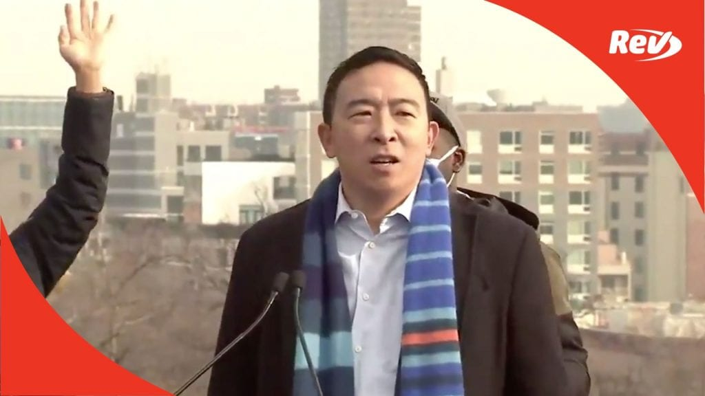Andrew Yang Announces Candidacy for NYC Mayor Transcript January 14