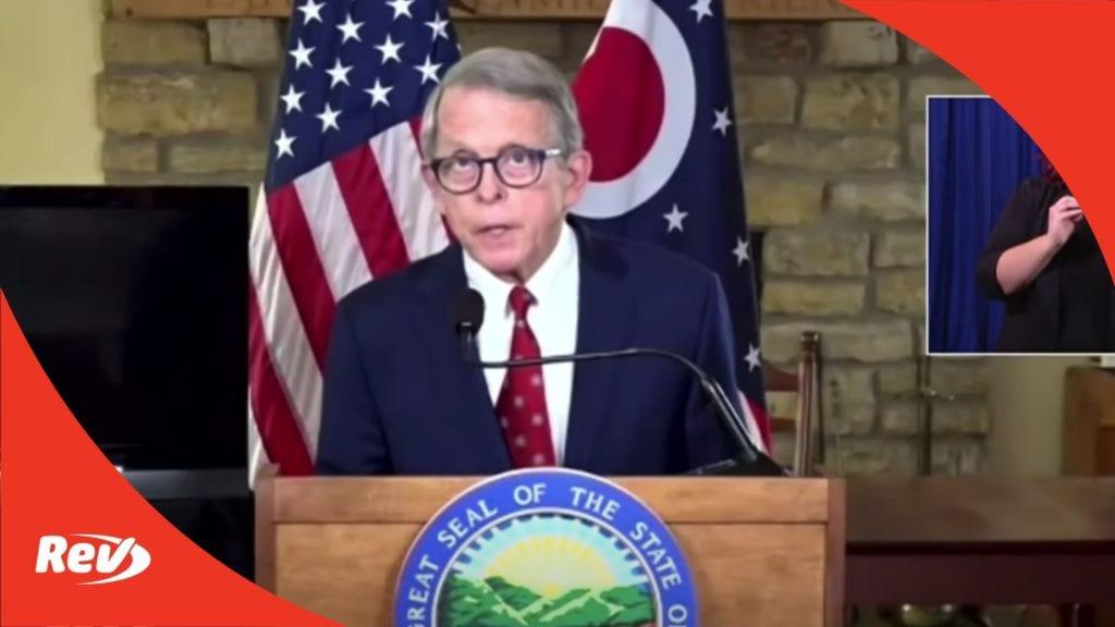 Ohio Gov. Mike DeWine Press Conference on Inauguration Preparedness Transcript January 14