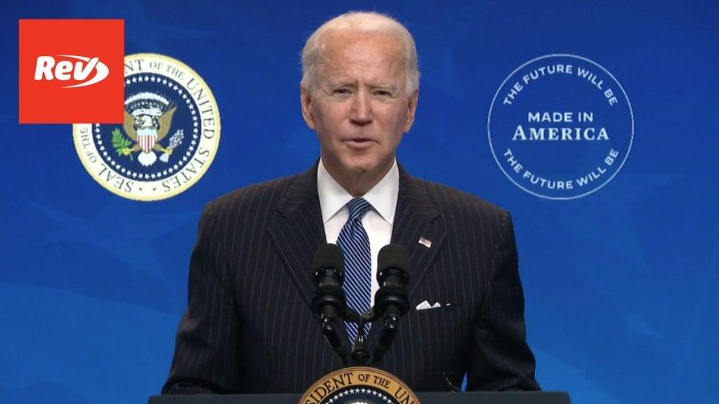 Joe Biden Speech on American Manufacturing Transcript January 25