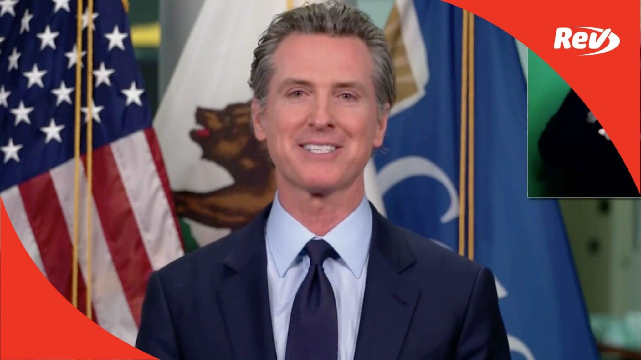 California Gov. Gavin Newsom COVID-19 Press Conference Transcript January 25