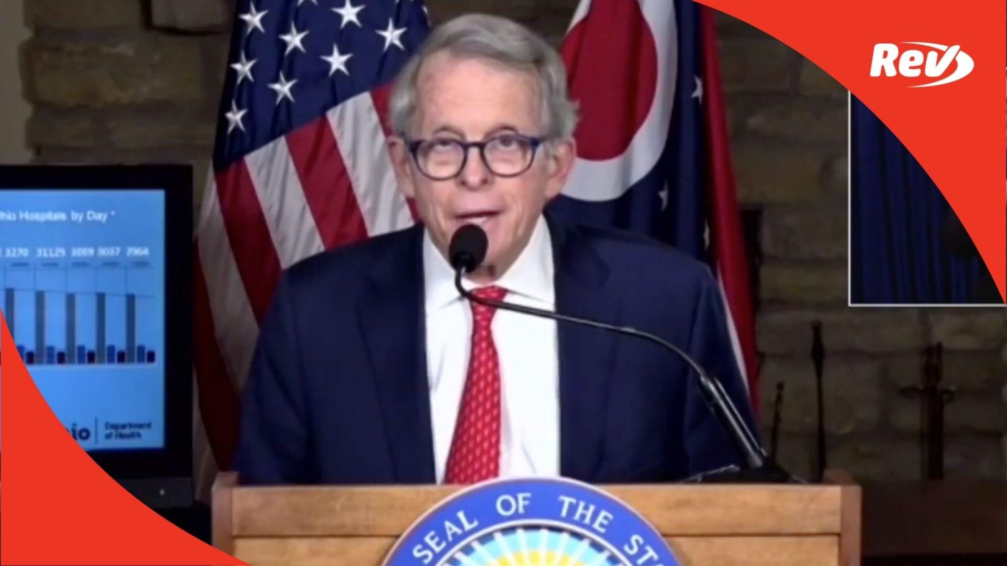 Ohio Gov. Mike DeWine COVID-19 Press Conference Transcript January 26