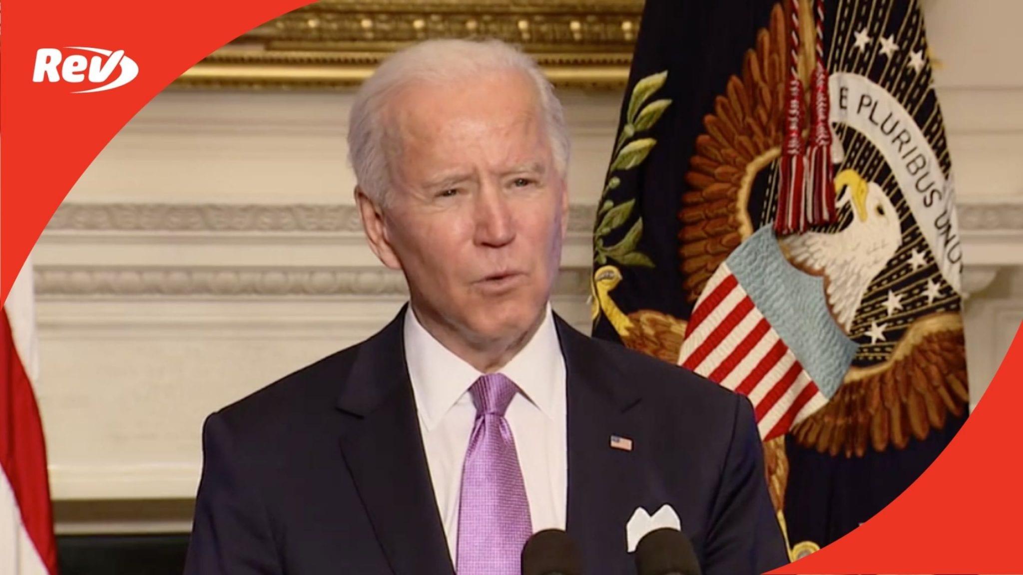 Joe Biden Press Conference on COVID-19 & Vaccine Distribution Transcript January 26