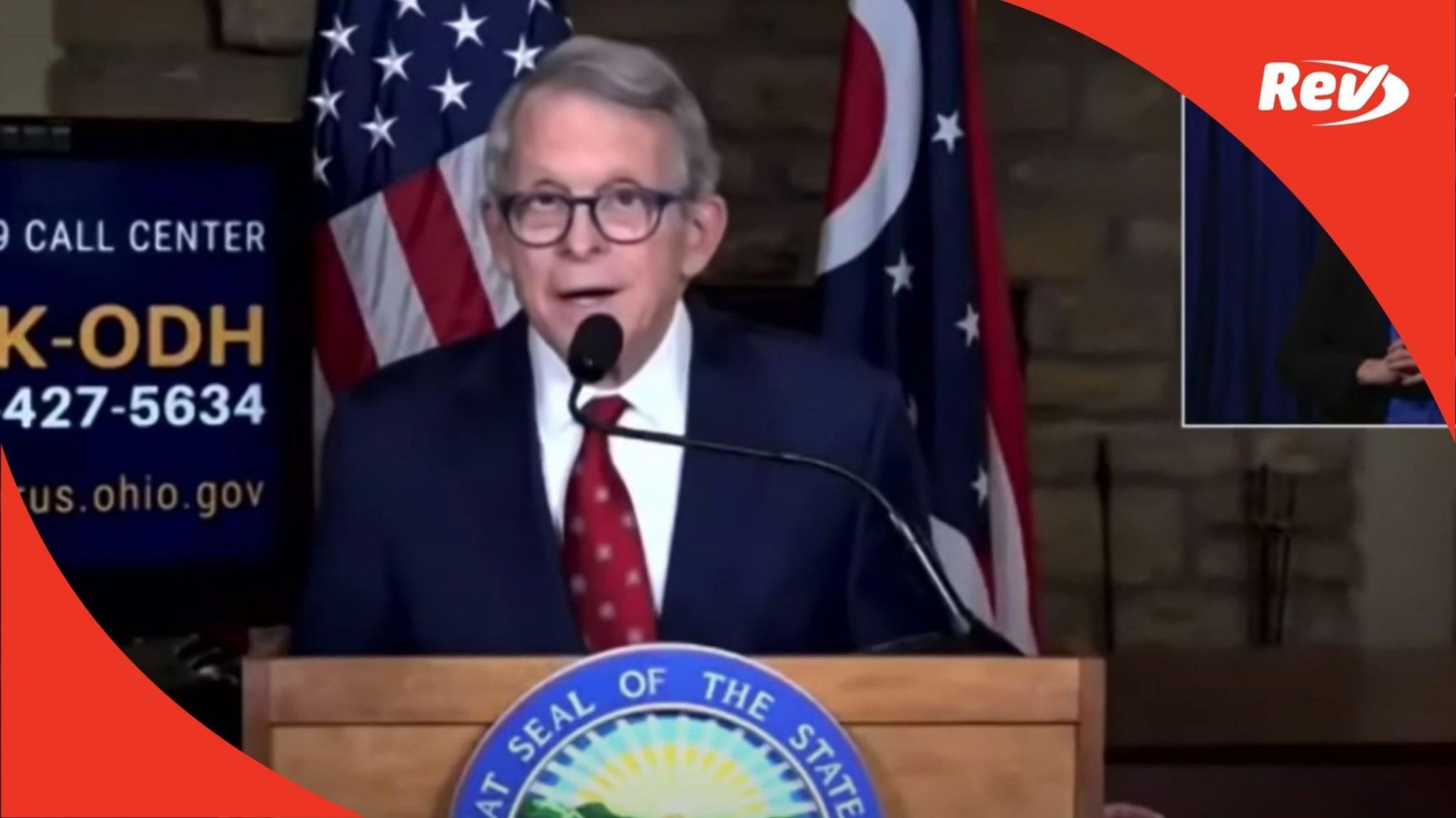 Ohio Gov. Mike DeWine COVID-19 Press Conference Transcript March 22