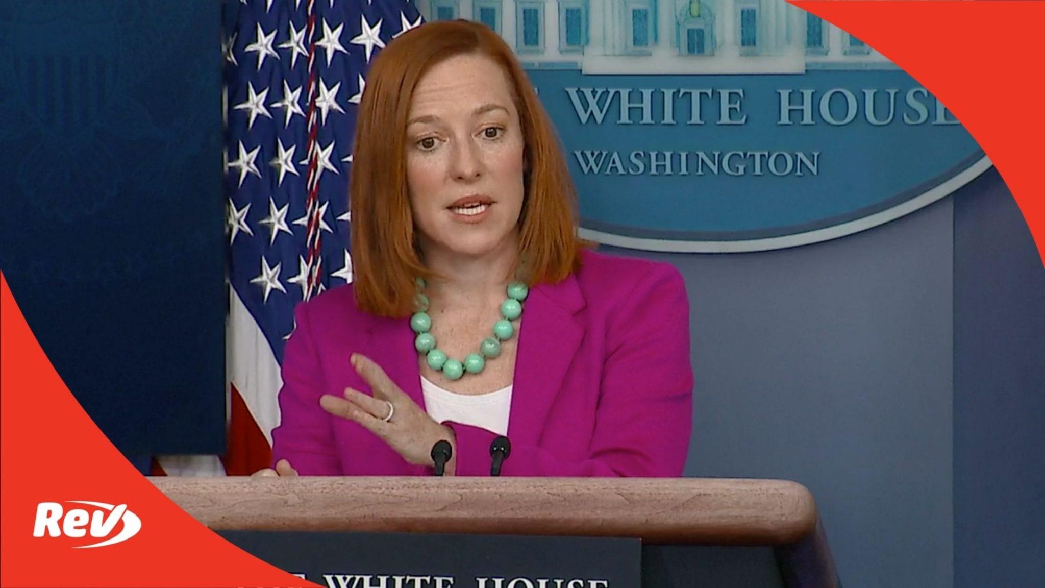 Press Secretary Jen Psaki White House Press Conference Transcript January 28
