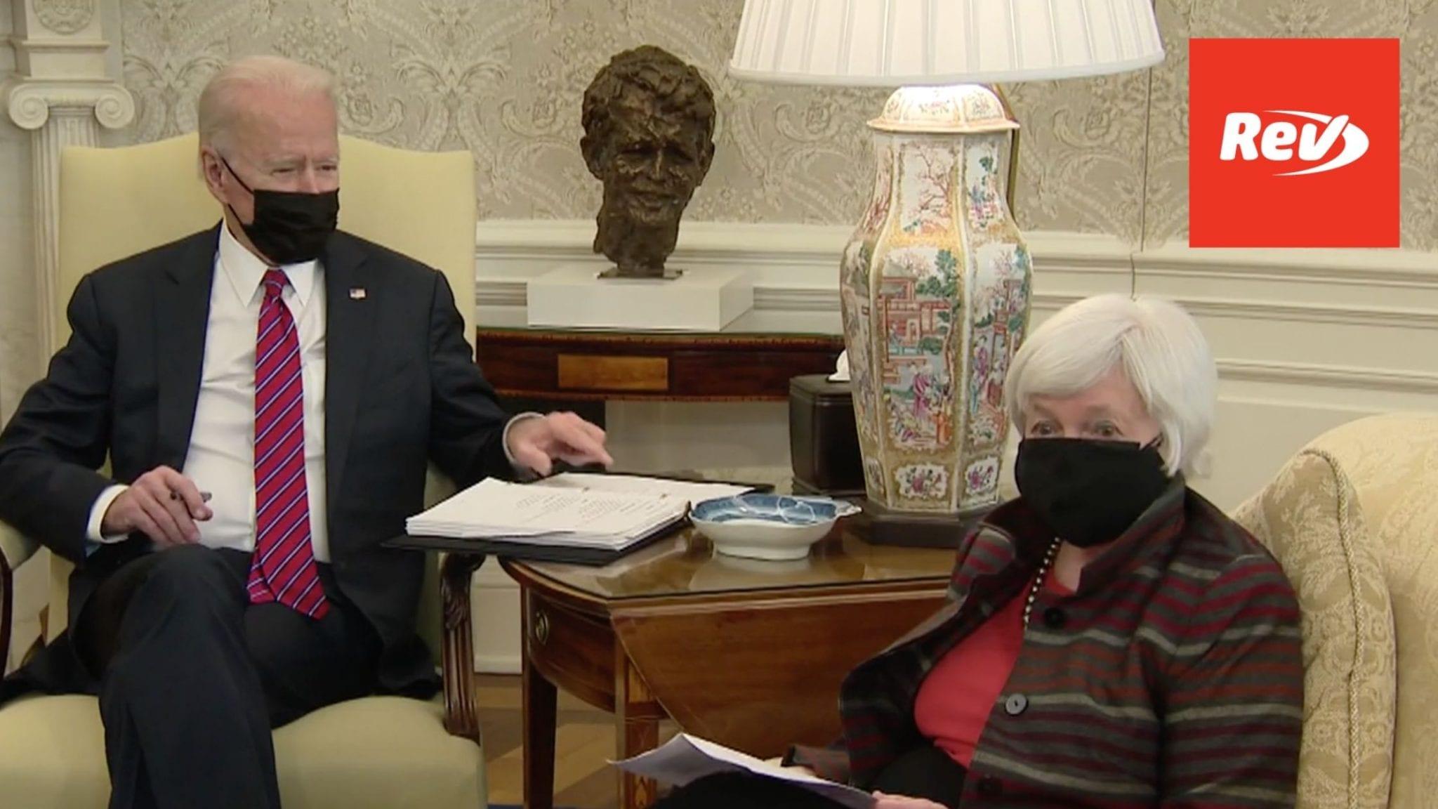 Joe Biden & Janet Yellen Remarks on Economic Stimulus Transcript January 29