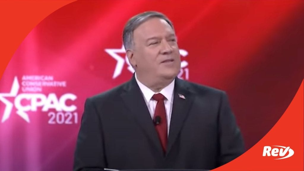 Mike Pompeo CPAC Speech Transcript