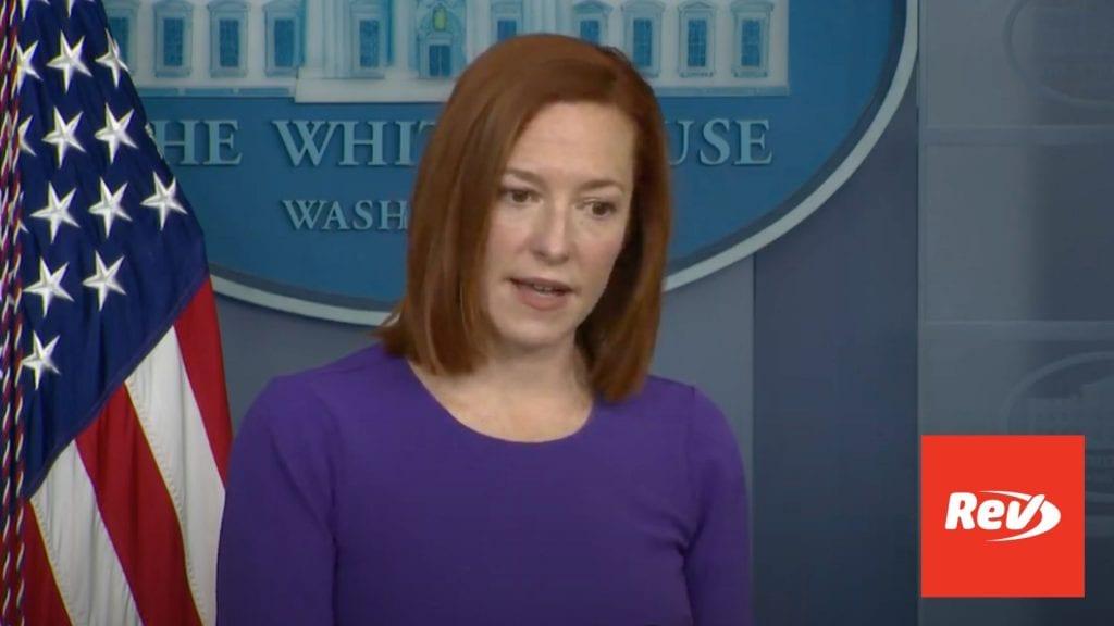 Press Secretary Jen Psaki White House Press Conference Transcript February 24