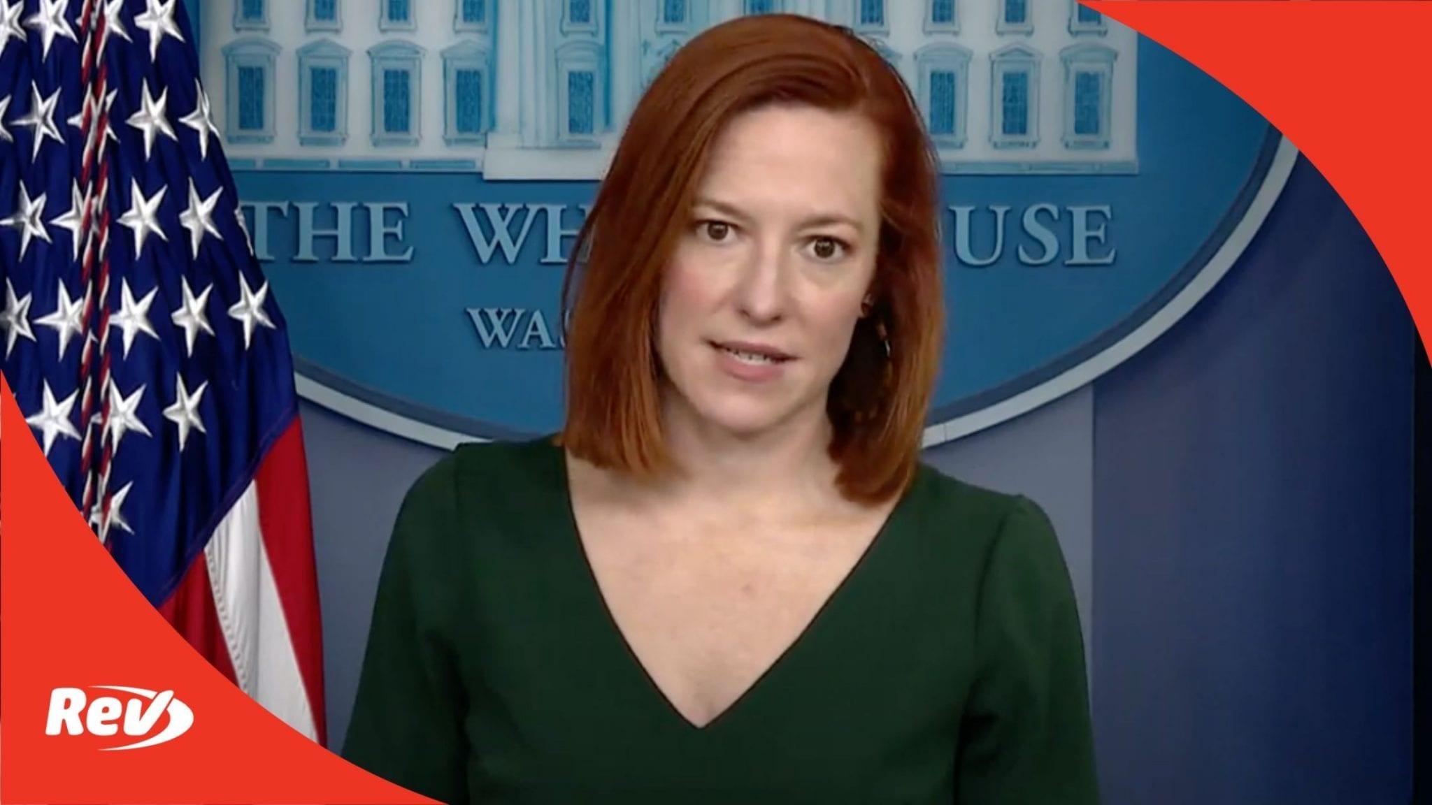 Press Secretary Jen Psaki White House Press Conference Transcript February 25