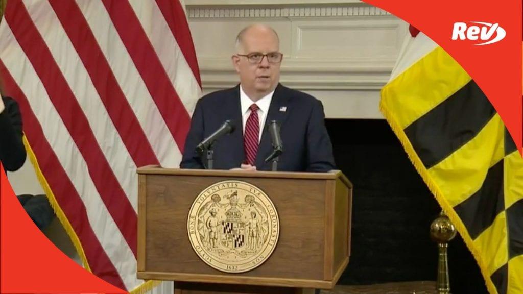 MD Governor Larry Hogan COVID Press Conference Transcript February 23
