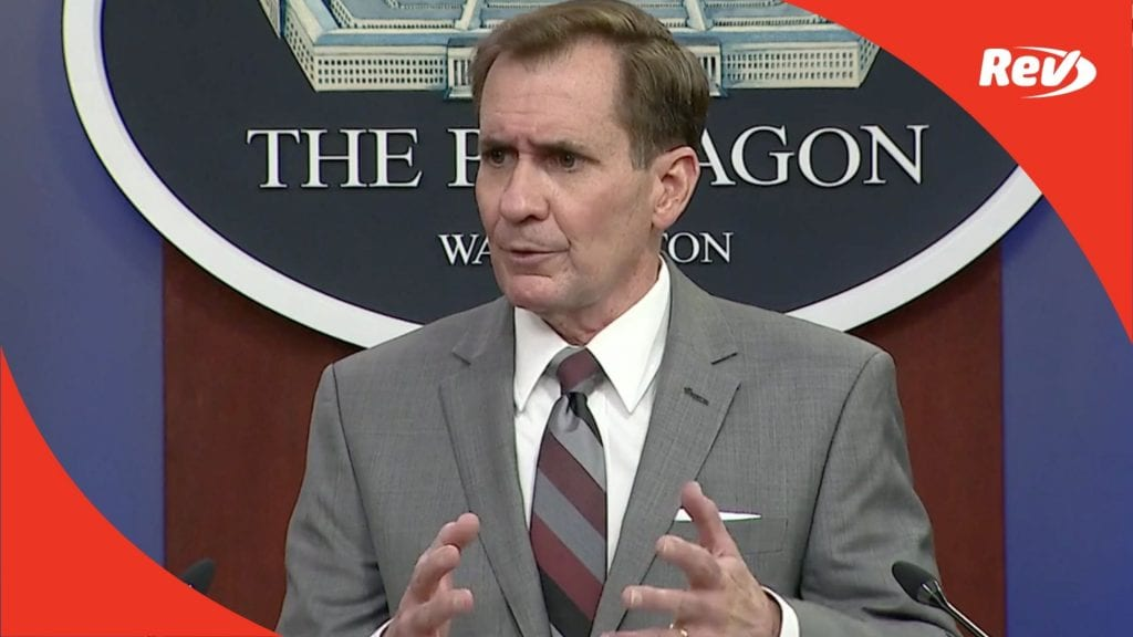 Pentagon Press Secretary John Kirby Press Briefing Transcript February 26: US Strikes in Syria