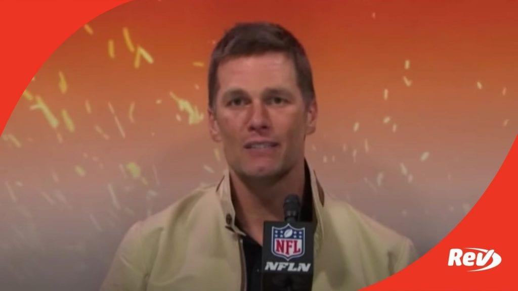 Tom Brady Press Conference After Super Bowl LV Win Transcript December 7