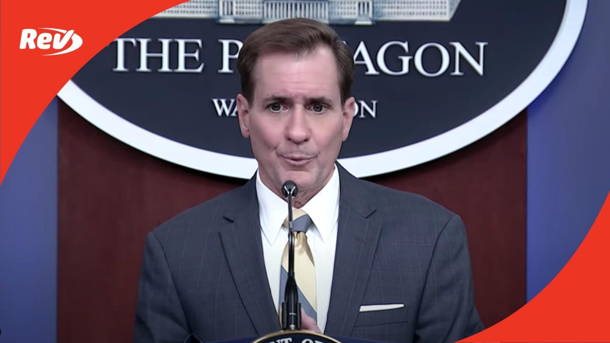 Pentagon Press Secretary John Kirby Press Briefing Transcript February 8