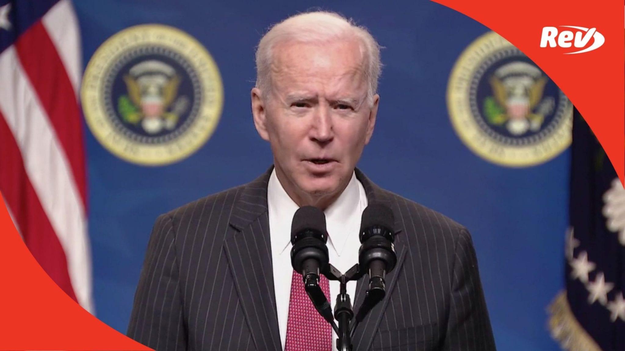Joe Biden Speech on Sanctions for Myanmar Coup Leaders Transcript February 10