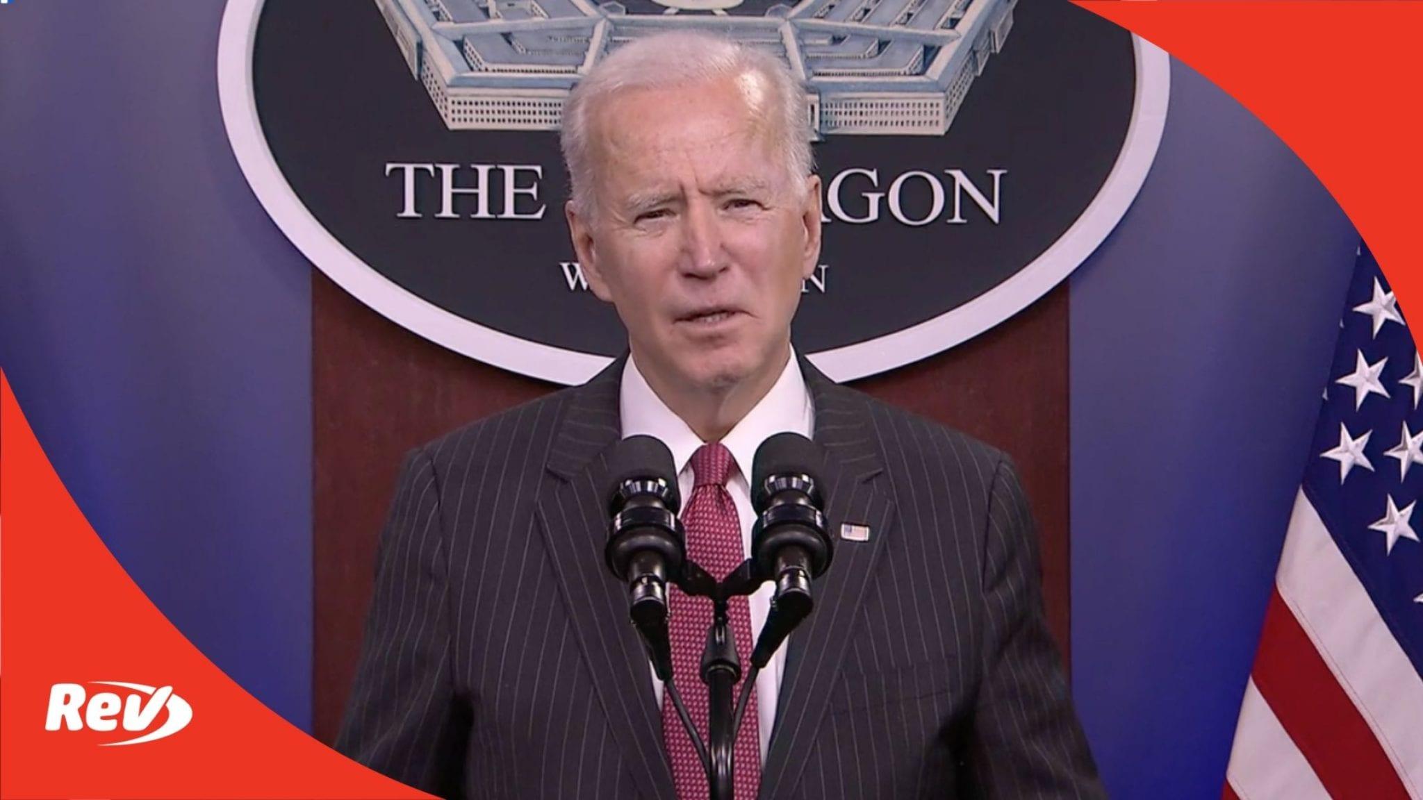 Joe Biden Speech at Department of Defense Transcript February 10