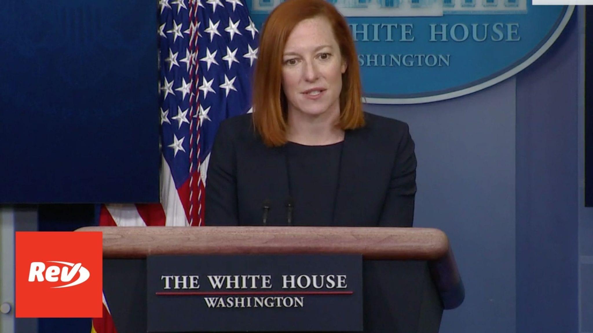 Press Secretary Jen Psaki White House Press Conference Transcript February 12