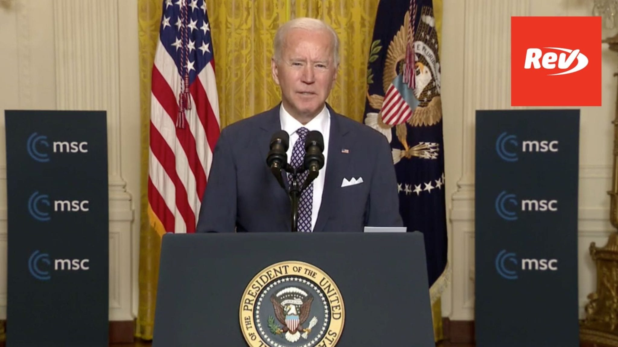 Joe Biden Speech at 2021 Munich Security Conference Transcript