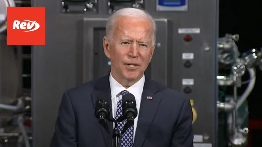 Joe Biden Speech at Pfizer Vaccine Manufacturing Facility Transcript February 19