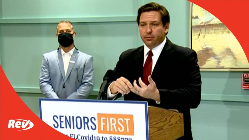 Florida Governor Ron DeSantis COVID-19 Press Conference Transcript February 1