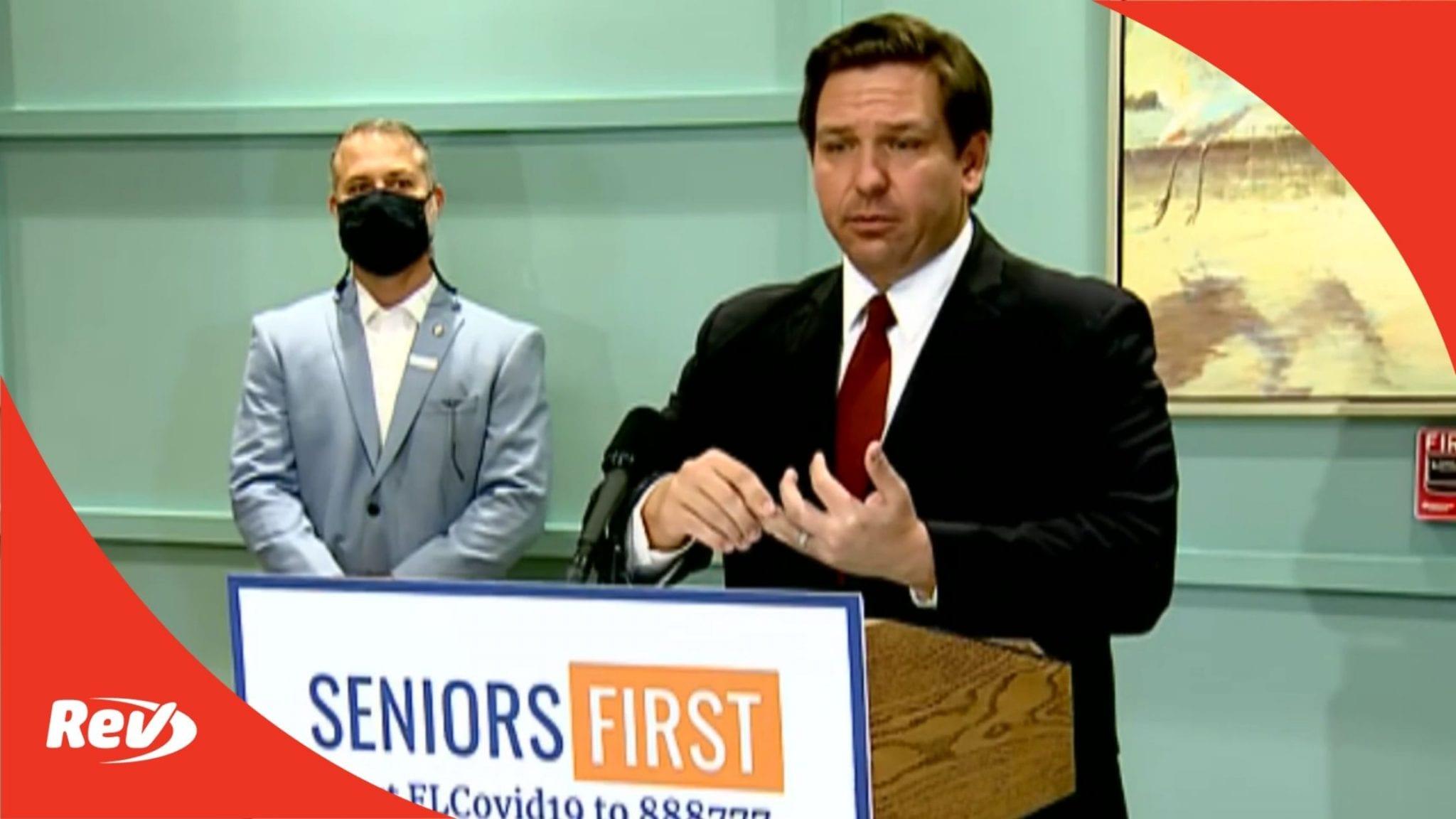 Florida Governor Ron DeSantis COVID-19 Press Conference Transcript February 1