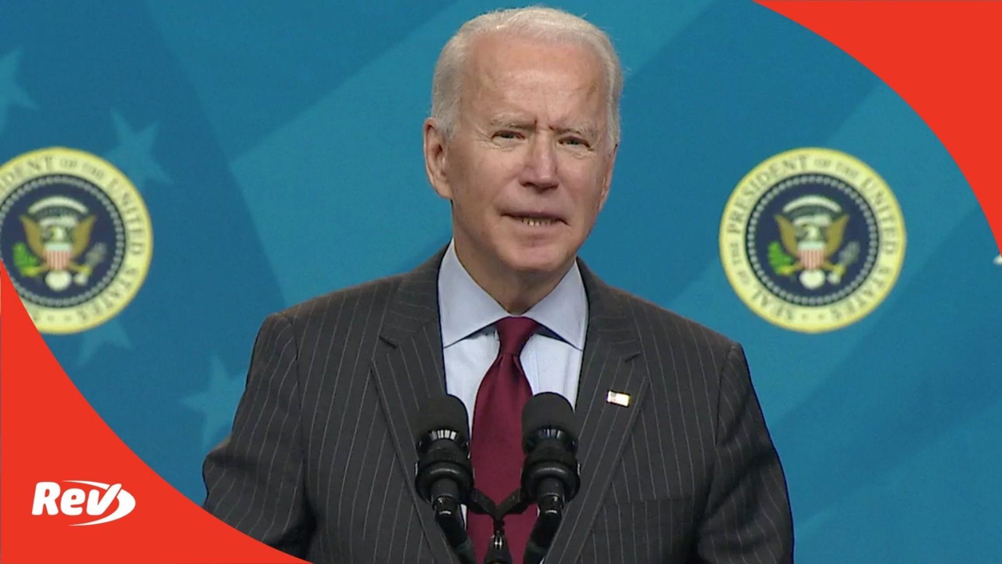 Joe Biden Announcement on PPP for Small Businesses Transcript February 22