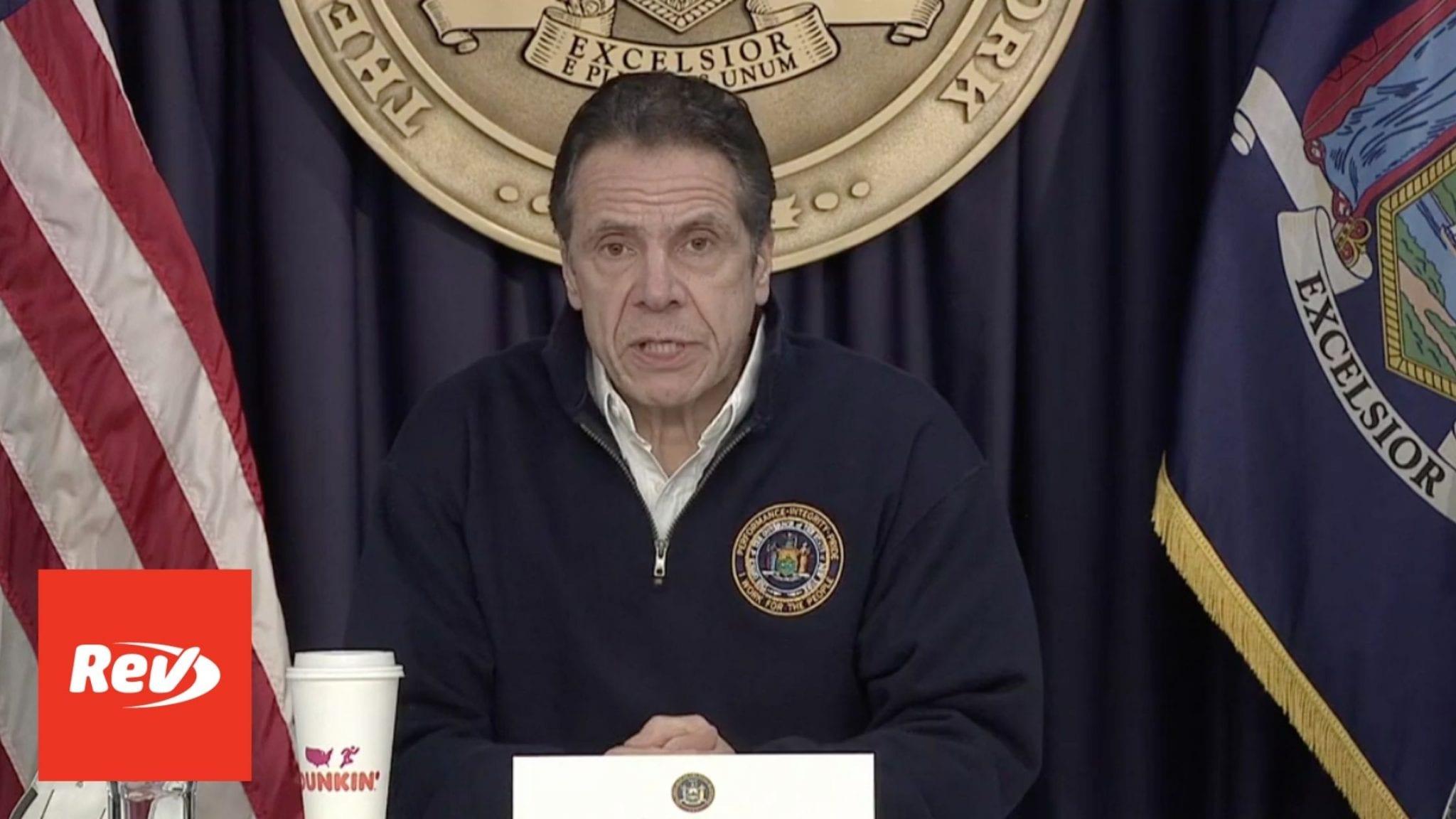 New York Gov. Andrew Cuomo Storm Press Conference Transcript February 2