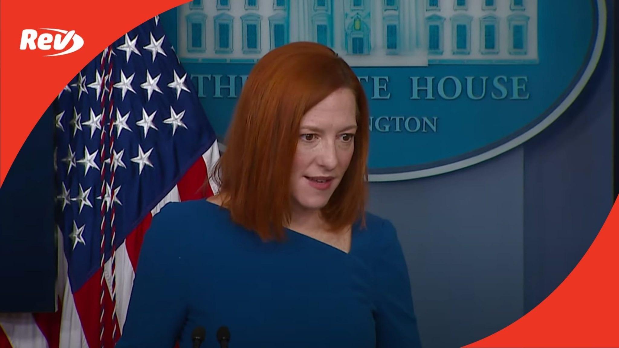 Press Secretary Jen Psaki White House Press Conference Transcript February 22
