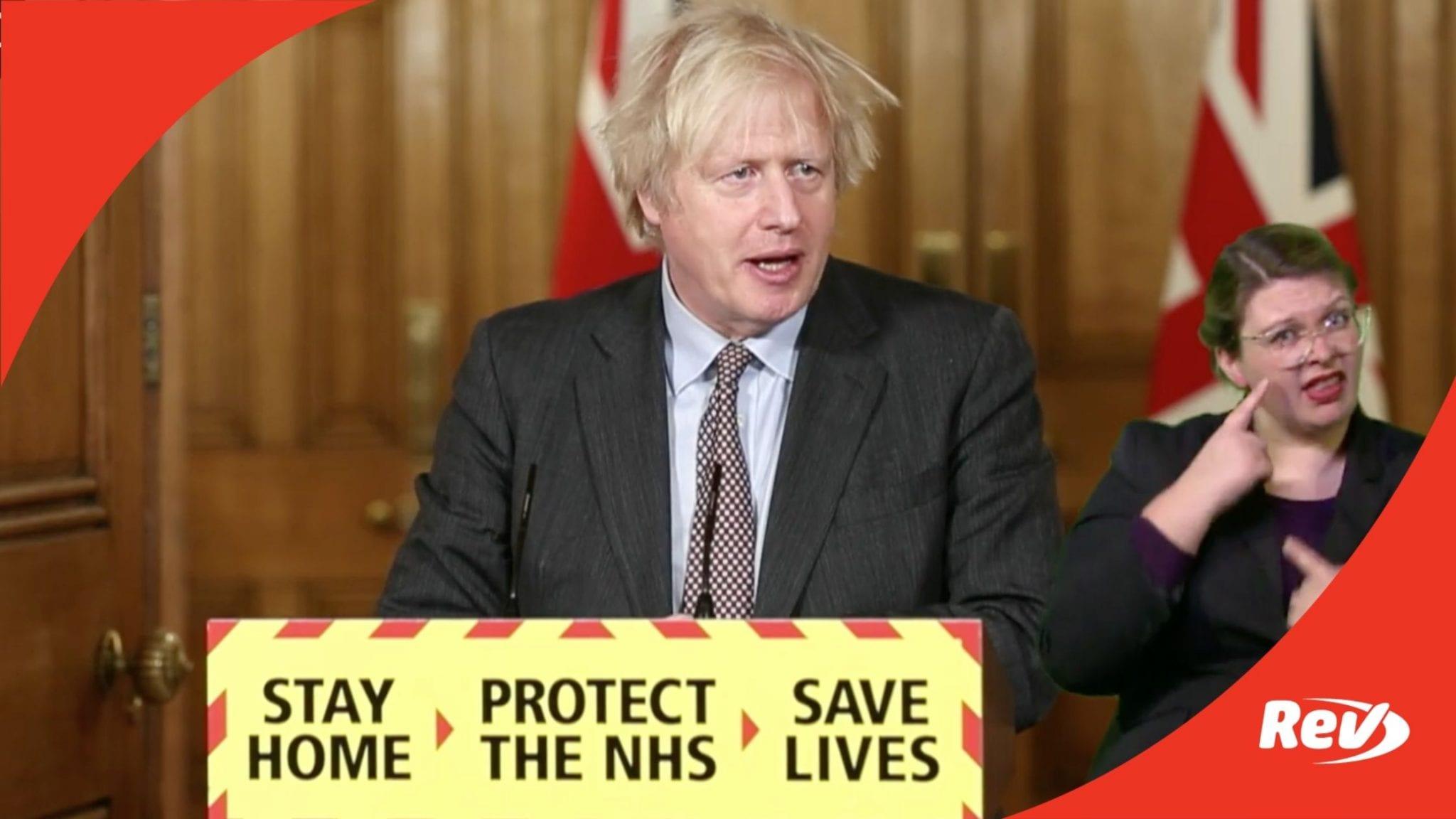 Boris Johnson UK COVID-19 Press Conference Transcript February 22