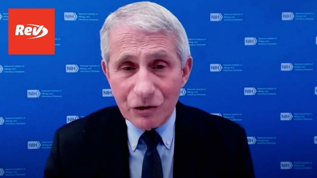 White House COVID-19 Task Force, Dr. Fauci Press Conference Transcript August 5