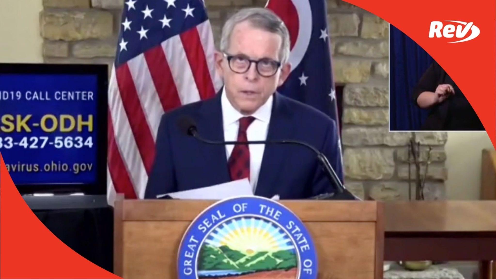 Ohio Gov. Mike DeWine COVID-19 Press Conference Transcript February 22