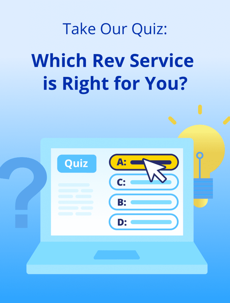 Quiz Which Rev Service is RIght for You