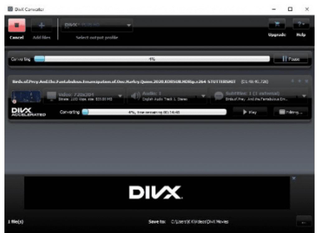 DixX Converting Video
