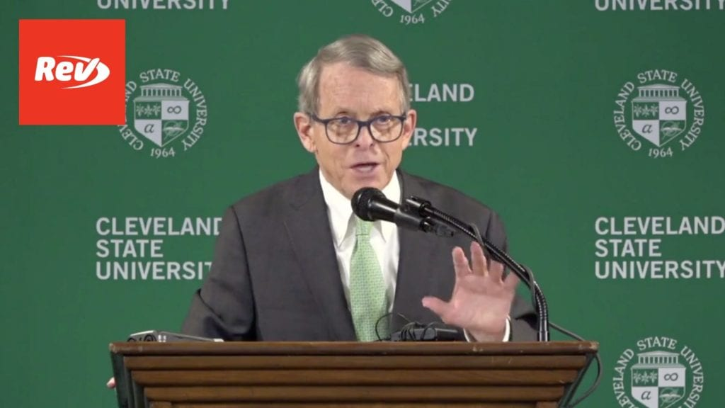 Ohio Gov. Mike DeWine COVID-19 Press Conference Transcript March 16