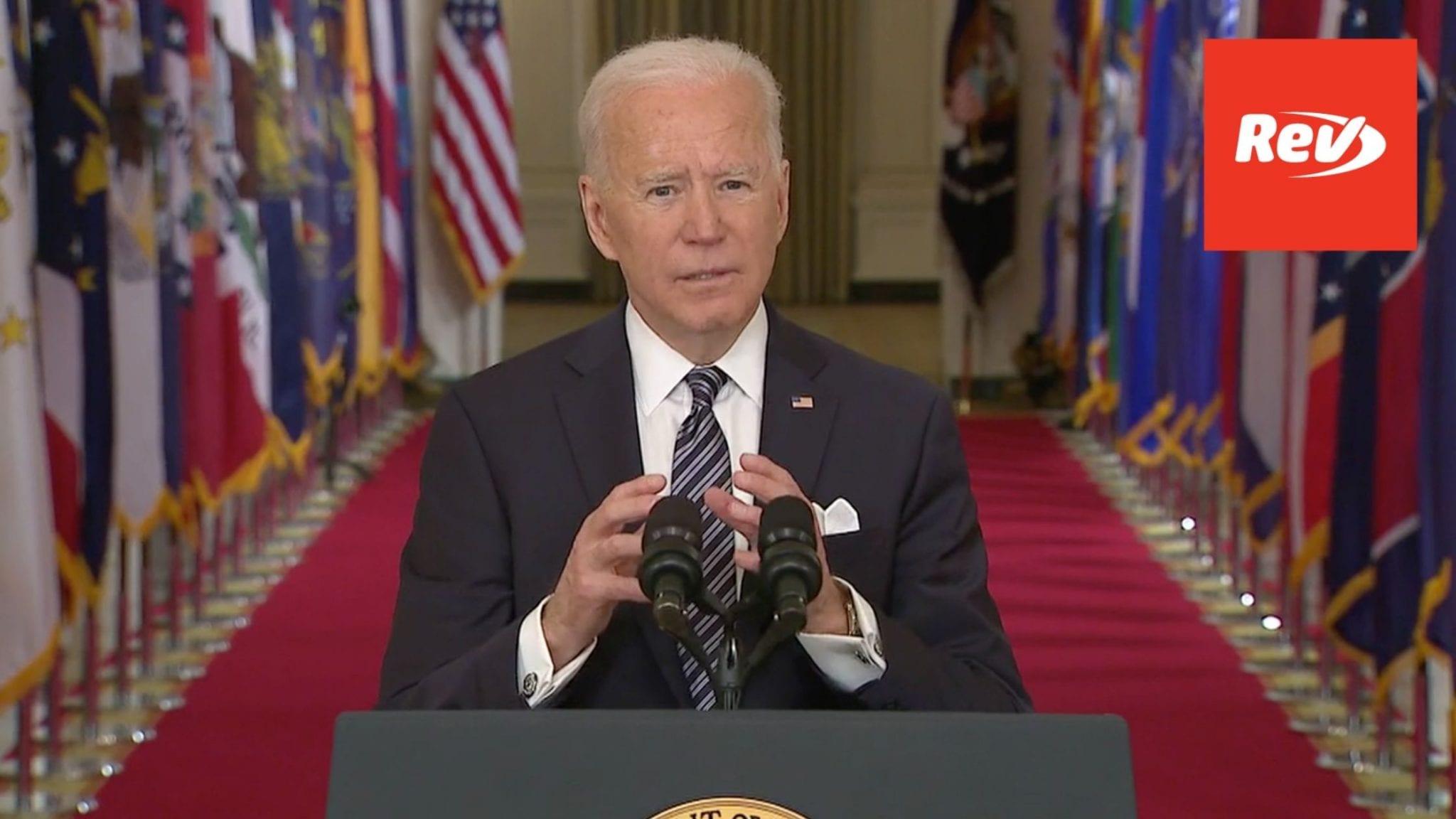 President Joe Biden Speech on Anniversary of COVID-19 Shutdown Transcript March 11
