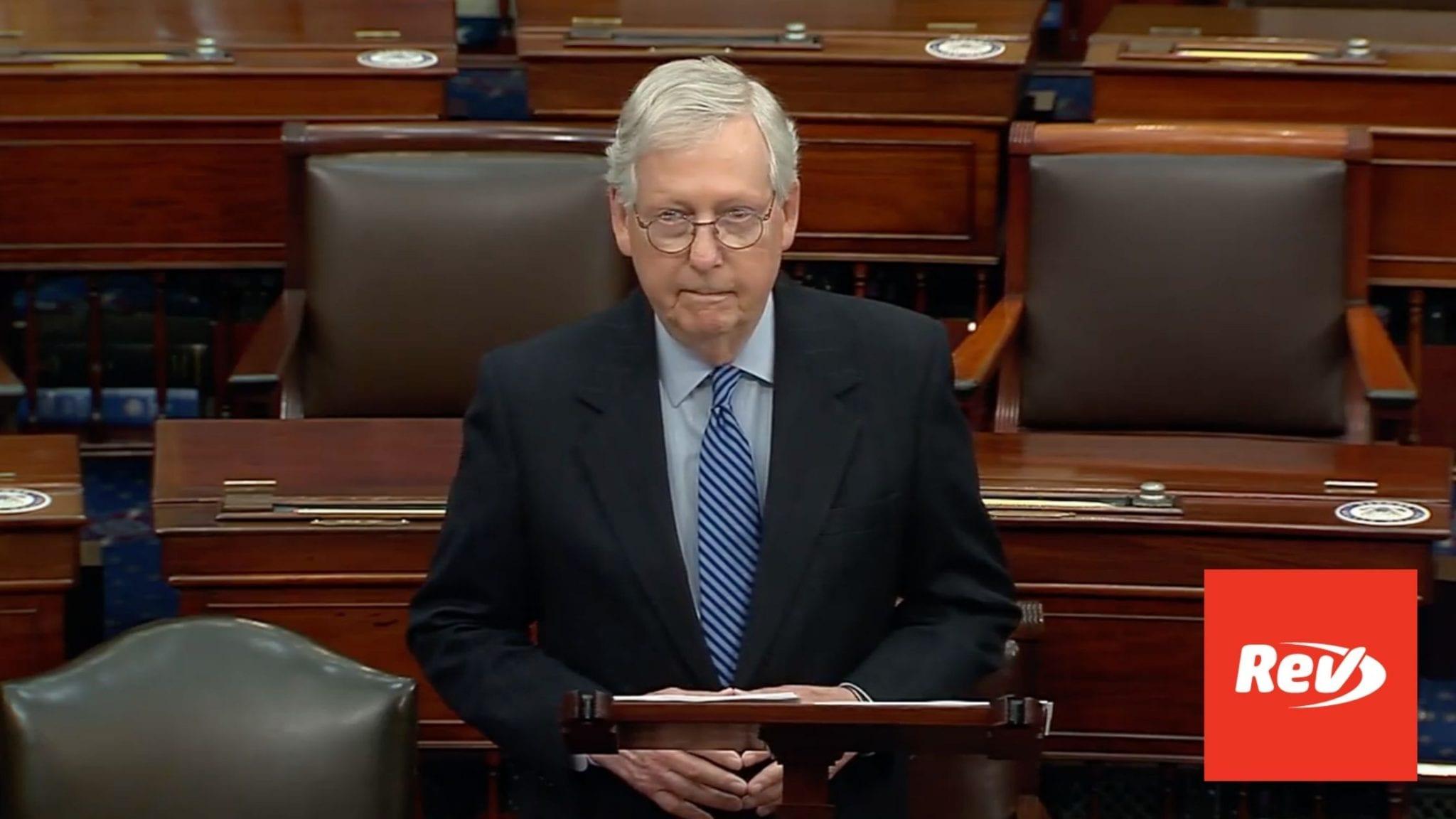 Mitch McConnell Senate Floor Speech on Filibuster Transcript March 16