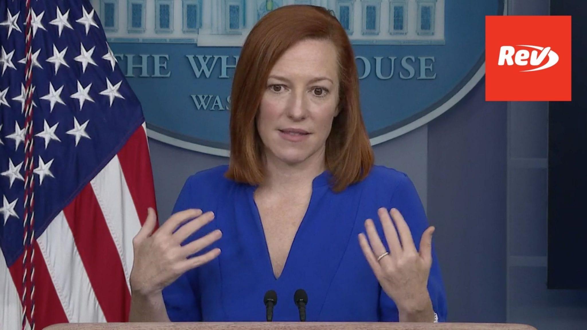 Press Secretary Jen Psaki White House Press Conference Transcript March 12
