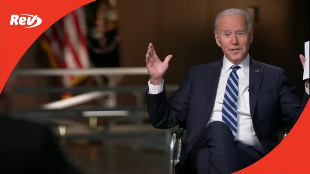 Joe Biden ABC Interview Transcript March 17
