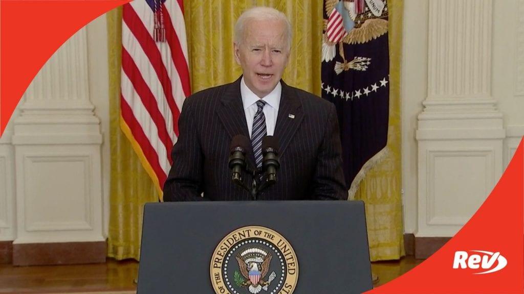 Joe Biden Vaccination Updates Speech Transcript March 18